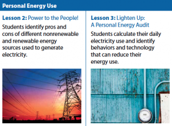 Figure 3: By making energy production more relevant and regional, lessons 2 and 3 encourage personal solutions to real-world energy issues.