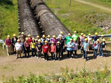 Teachers tour hydroelectric facility during summer workshop, 2013