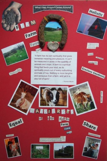Figure 3.  Diana's Collage.  This figure illustrates a visual reflection of Diana's experience as a farmer.