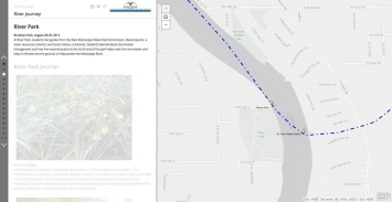 Figure 5. Screen capture of a location heading and summary for River Park