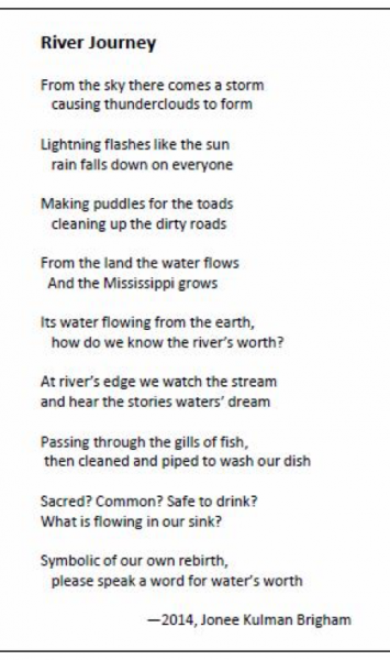 Figure 2. River Journey Poem