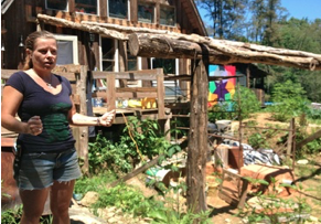 Figure 3: Lisa of Woodland Harvest Farm. Photo by first author.