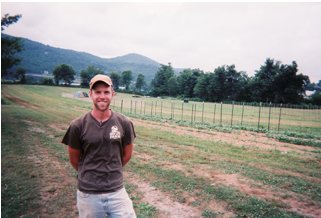 Figure 5: Corey from New Life Farm. Photo by visitor.