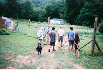 Figure 9: Visitors Tour A Berry Patch Farm. Photo by visitor.